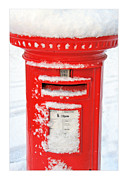 Pillar Box Prints - Snowy Pillar Box Print by Mal Bray