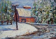 Snow Pastels - Snowy Road by Joyce A Guariglia