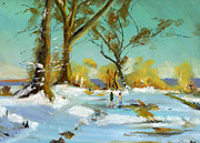 Snow Pastels - Snowy Scene by Paul Mitchell