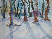 Warren Thompson Art Prints - Snowy Shadows Print by Warren Thompson