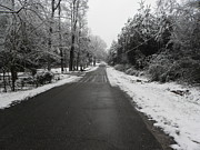 Rural Snow Scenes Originals - Snowy Street After a Winter Storm by Cindy Hudson