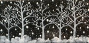 Snowy Trees Ceramics - Snowy White Trees by Joyce Kerr