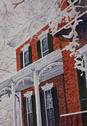 Patsy Sharpe Painting Prints - Snowy Yesteryear Print by Patsy Sharpe