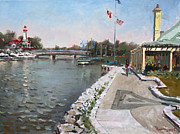 Snug Harbour Restaurant Print by Ylli Haruni