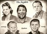 Bird Drawings - Snyder Family by Bird