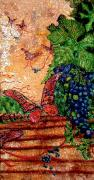 Vineyard Landscape Mixed Media Prints - So Long and Thanks For All The Grapes Print by Ron Carter