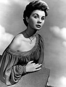 Bare Shoulder Framed Prints - So Long At The Fair, Jean Simmons, 1950 Framed Print by Everett