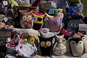 Toys Tapestries - Textiles Prints - So Many Eyes Looking Print by Michael Clarke JP