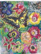 Busy Mixed Media - So Many Flowers So Little Time by Anne-Elizabeth Whiteway