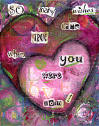 Wishes Mixed Media Posters - So Many Wishes Poster by Mary Beth Volpini