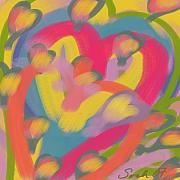 Hearts Pastels Posters - So Much Love Poster by Sarah Madsen