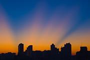 São Paulo City Dawning Print by Flavio Coelho