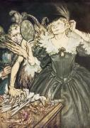 Rackham Metal Prints - So Perfect is their Misery Metal Print by Arthur Rackham
