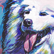 Modern Dog Art Paintings - So Sammy by Lea