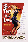 1950s Portraits Posters - So This Is Love, Kathryn Grayson, 1953 Poster by Everett
