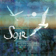 Seascape Digital Art Posters - Soar Poster by Evie Cook