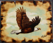 Eagle Pyrography - Soaring by Kenneth Lambert