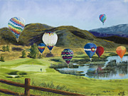 Mary Benke Acrylic Prints - Soaring Over Colorado Acrylic Print by Mary Benke