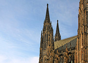 Prague Towers Photos - Soaring spires Saint Vitus Cathedral Prague by Christine Till