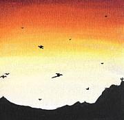 Soaring Sunset 2 Print by Jera Sky