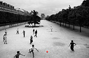 Soccer Art - Soccer at the Louvre by Andrew Fare