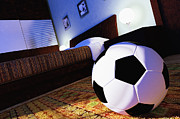 Soccer Art - Soccer Ball In A Bedroom by Gualtiero Boffi