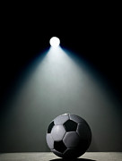 Soccer Art - Soccer Ball In Spotlight by Siri Stafford