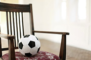 Soccer Art - Soccer Ball On The Chair by RunPhoto