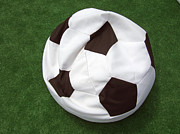 Lazing Framed Prints - Soccer ball seat cushion Framed Print by Matthias Hauser