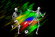 Sports Digital Art Metal Prints - Soccer Metal Print by Carol and Mike Werner