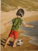 Soccer Child Print by Marilyn Jacobson