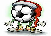 Soccer Art - Soccer Christmas by Kevin Middleton
