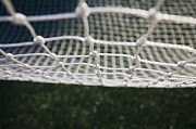 Soccer Goal Framed Prints - Soccer Net Framed Print by Paul Edmondson