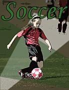 Kelley King Digital Art Prints - Soccer Style Print by Kelley King