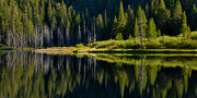 Lynn Bauer Photos Photo Prints - Socher Lake Panorama Print by Lynn Bauer