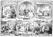 Pare Photo Framed Prints - Social Activities, 1861 Framed Print by Granger