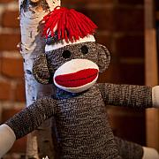 Child Toy Metal Prints - Sock Monkey Metal Print by Edward Myers