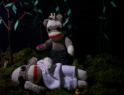 Midsummer Prints - Sock Monkey Midsummer Nights Dream Print by David Jones
