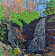 North Carolina Paintings - Soco Falls by Micah Mullen