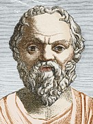 5th Century Bc; Posters - Socrates, Ancient Greek Philosopher Poster by Sheila Terry