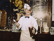 Soda Fountain Framed Prints - Soda Jerk, 1939 Framed Print by Granger