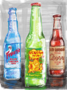 Red Ribbon Digital Art - Soda Pops by Russell Pierce