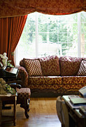 Divan Prints - Sofa in Living Room Print by Andersen Ross