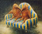 Surrealistic Paintings - Sofa by Lolita Bronzini