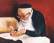 Scribe Paintings - Sofer by Miriam Shaw