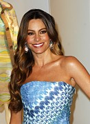 Drop Earrings Posters - Sofia Vergara At Arrivals For Rodeo Poster by Everett