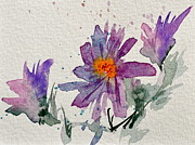 Aster Paintings - Soft Asters by Beverley Harper Tinsley