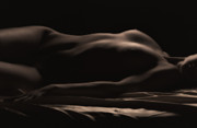 Nudes Photo Metal Prints - Soft Glow Metal Print by David  Naman