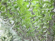 Nature Abstracts Prints - Soft Green and Gray Abstract Print by Carol Groenen