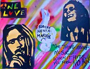 First Amendment Paintings - Soft Marley by Tony B Conscious